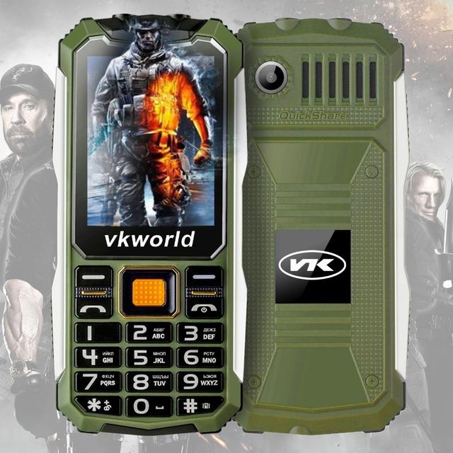 Original VKWorld Piedra V3S Espera Largo Diario Impermeable 6531D 2.4 pulgadas Dual SIM Del Teléfono Móvil Bluetooth Teclado Ruso