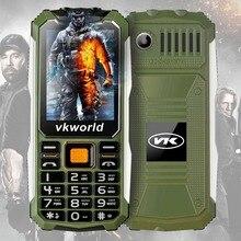 Rusça klavye VKWorld Taş V3S Günlük Su Geçirmez Toz Geçirmez Cep Telefonu 6531D 2.4 inç Çift SIM GSM Net Bluetooth led ışık