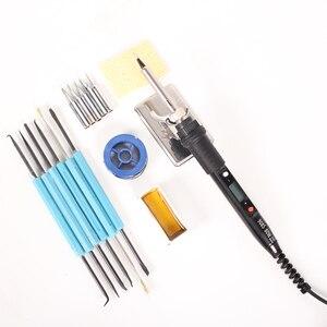 80 Вт паяльник ЖК-цифровой дисплей регулируемая температура 220 В ЕС Электрический паяльник набор сварочная паяльная станция ремонтный комплект