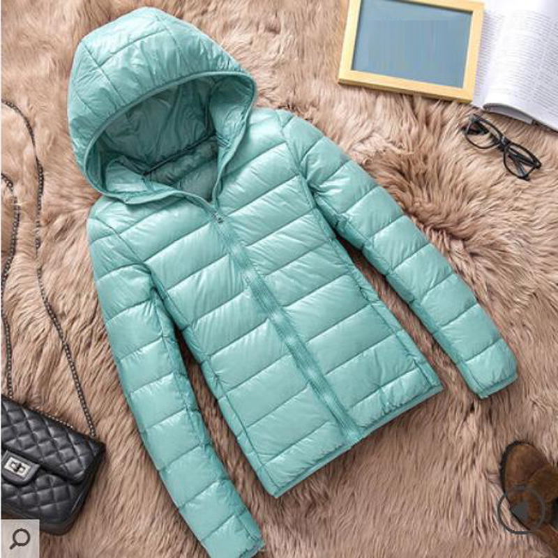 Down   Jacket Women Brand Winter Warm Jackets Women Light White Duck   Down   Jacket 4XL Ultralight Hooded   Coats   RE2000