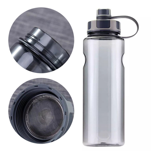 New 800ml-1500ml Outdoor Fitness Sports Bottle Kettle Large Capacity Portable Picnic Water Bottles BPA Free Gym Space Cup Cups 2