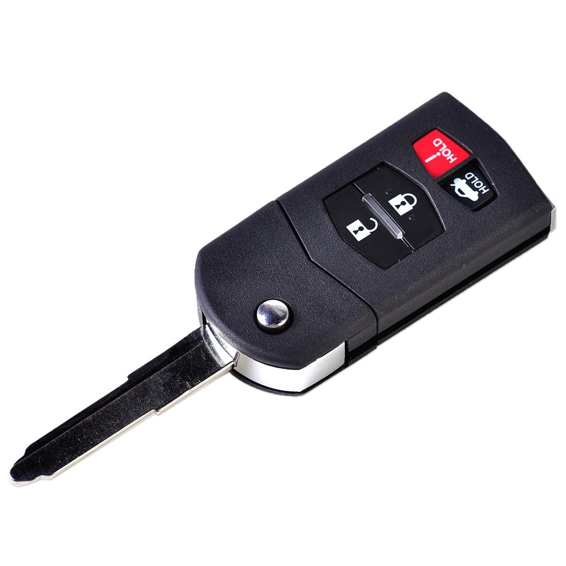 DWCX 4 Taste Klapp Fernbedienung Keyless Key Fob Shell Fall Gehäuse für Mazda 3 6 2010-2012 Für MX-5 Miata 2006 2007-2012