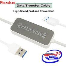 Convertisseur intelligent de Swicth de KM de Suite de PC à PC U3 KM avec la liaison de données câble de transfert USB3.0 câble de liaison de synchronisation de données de cordon pour MAC Windows
