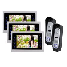 Homefong 10 Inch 2 Video Door Phone  Doorbell 3 LCD Monitor  IR Camera Night View  SD card (Not Included) 2V2
