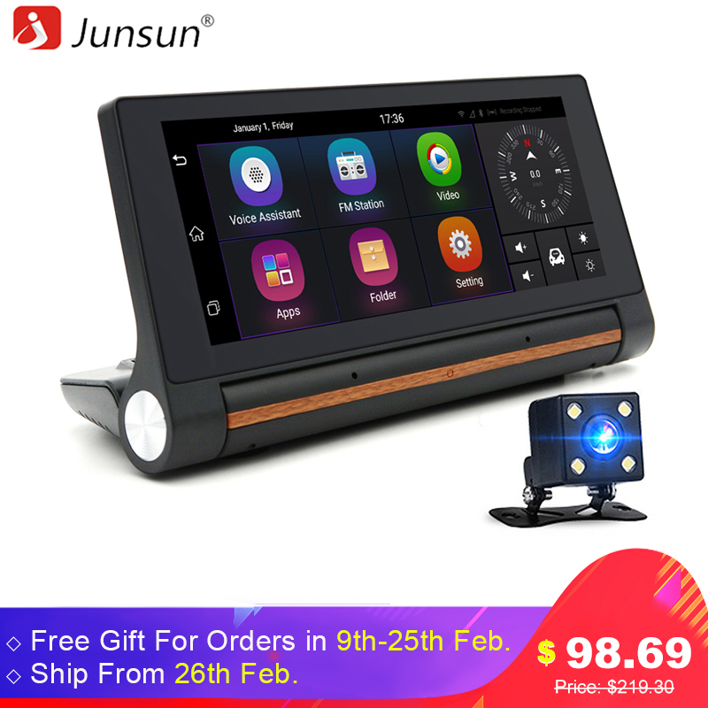 Junsun E27 6 86 Android Car DVR GPS Camera 3G Dash Cam Video Auto Recorder Registrator