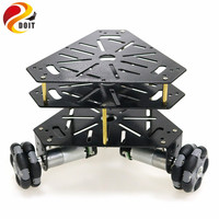 3WD Omni Wheels Robot Car Chassis Stain Steel Frame with 3pcs DC 9V motor for DIY Toy Car Owi Robot Competition