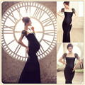 Women Maternity Funny photography prop long dresses for pregnant pregnancy gown clothes photo shoot dress free shipping