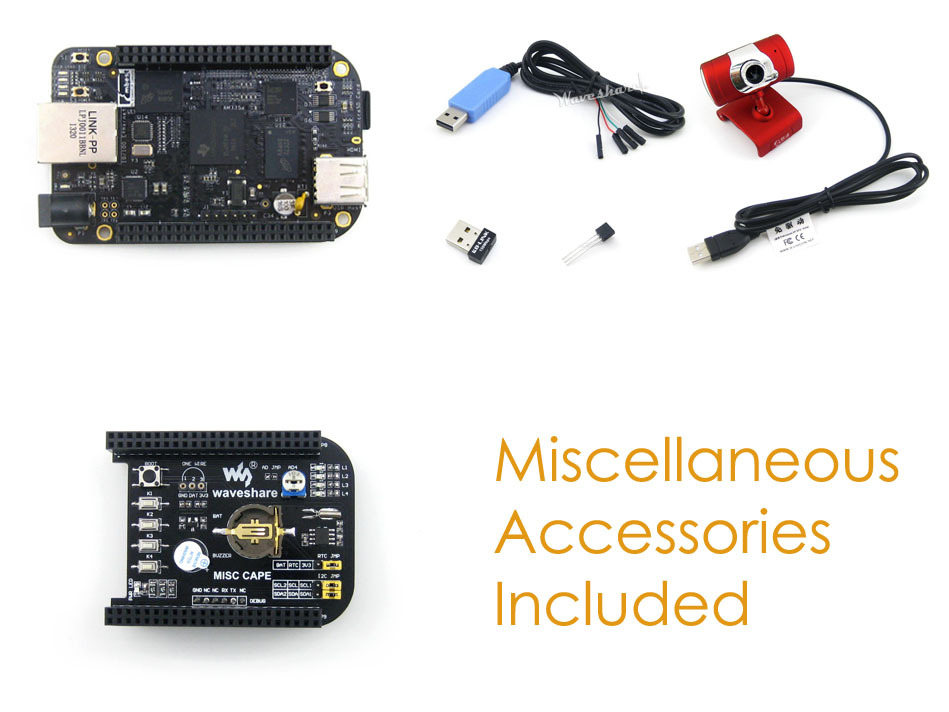 2018 Module Beaglebone Black Arm Cortex A8 Rev C Development Board 4gb Emmc +expansion Misc Cape + Usb Wifi Camera Kit = Pack expansion module elc md204l text panel