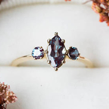 Luxury Gold  Blue Stone Rings for Women Wedding Gift Engagement Jewelry Charm Femme Ring Bijoux Anillos Mujer L5Q792 kcaloe lady women green stones ring charm brand jewelry antique black rhinestone natural stone wedding anniversary rings anillos