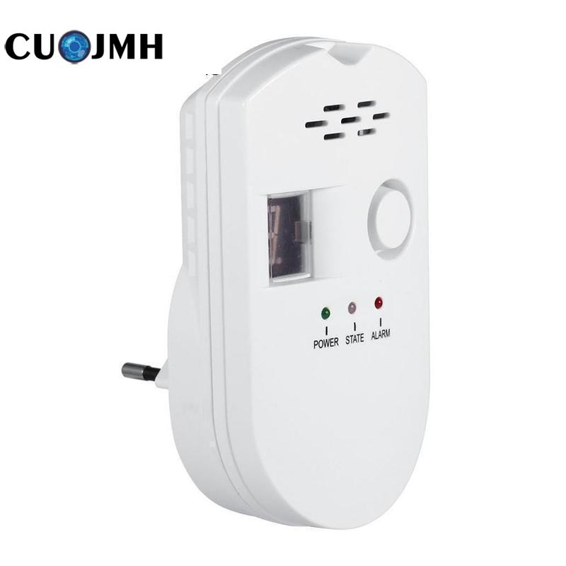 EU Gas Detector Kitchen Security Combustible Gas Detector LCD LPG LNG Coal Natural Gas Leak Alarm Sensor Warning Detector