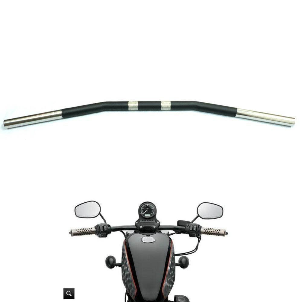 1 25MM Zero Drag Bar Handlebar Curvel for Yamaha Suzuki Kawasaki Honda Harley Sportster XL 883