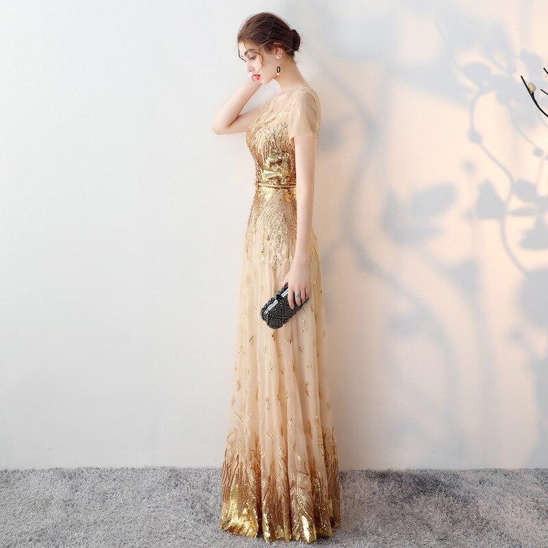 Boho Soirée Plus Vintage Piste Robe Taille La D'été Femmes Élégant 2018 Luxe Sexy Rétro Robes Maille Or Sequin Dentelle De q07x6