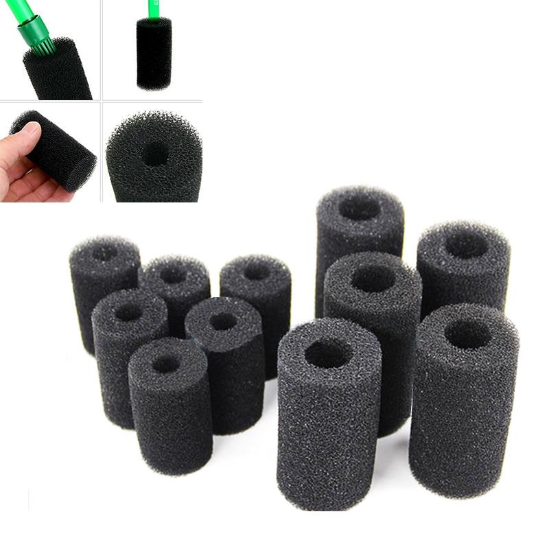 5 Pcs Sponge Aquarium Filter Protector Cover For Fish Tank Inlet Pond Black Foam Filter Accessories