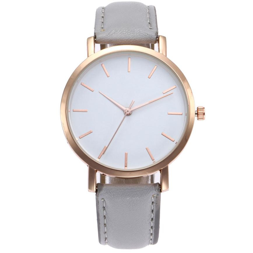 Top Brand Watches Women Luxury Brand Quartz Watches Men PU Leather Watch Business Casual Wristwatch Male Clock Relogio Masculino 2018 top brand geneva brand watches women casual roman numeral watch for women pu leather quartz wrist watch relogio gold clock