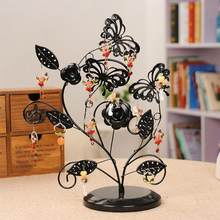 Earrings Necklace Ring Pendant Bracelet Jewelry Display Stand Tray Tree Storage Racks Stand Earrings Storage Rack Pendant Holder(China)