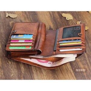 Image 3 - AETOO Handmade กระเป๋าสตางค์ชายแนวตั้งส่วนหนังนุ่มหนังกระเป๋าสตางค์ชายหนุ่มผู้หญิงผักกระป๋องหนัง VINTAGE กระเป๋าสตางค์
