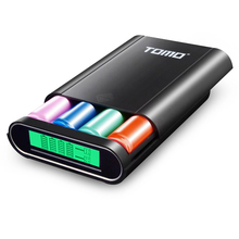 TOMO M4 4*18650 Battery Charger Banca di Potere DIY 5 V 1A/2A USB caricatore con Display LCD Intelligente per iPhone X Samsung S8 Nota 8