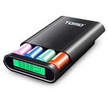 TOMO M4 4*18650 Carregador de Bateria Banco Do Poder DIY 5 V 1A/2A USB carregador Inteligente com Display LCD para o iphone X Samsung S8 Nota 8