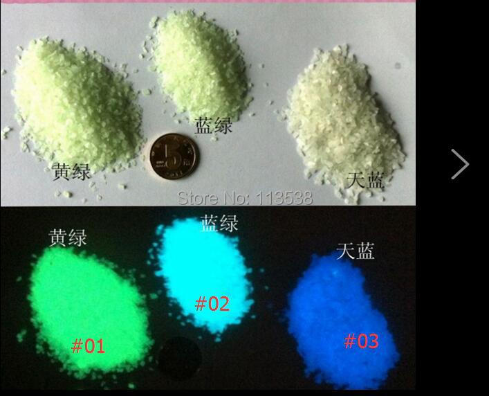 Free shipping!!! 300gram/lot green/blue color Glow at night Fairy tiny rock Dust LUMINOUS sand rice art GLOWS IN DARK