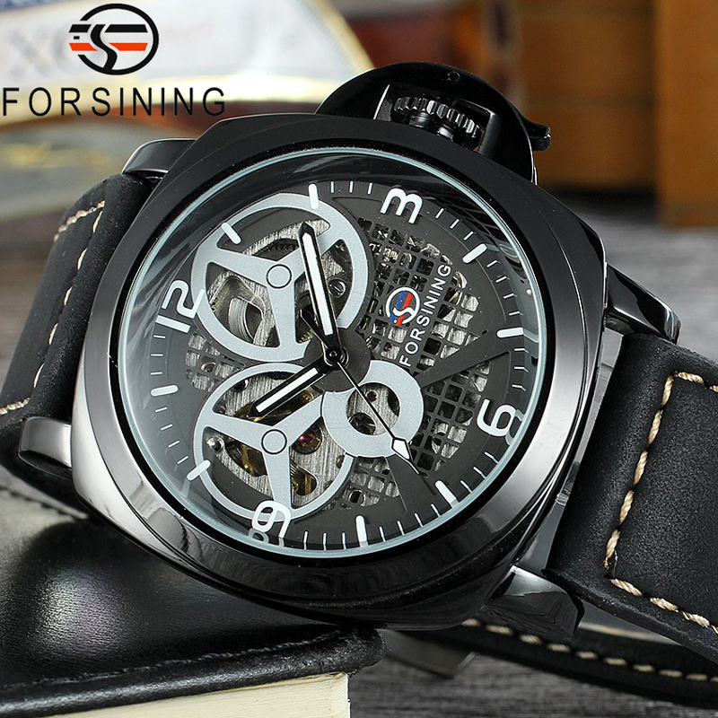 FORSINING Men Watch Top Brand Luxury Military Sport Wristwatch Skeleton Automatic Mechanical Male Clock relogio masculino