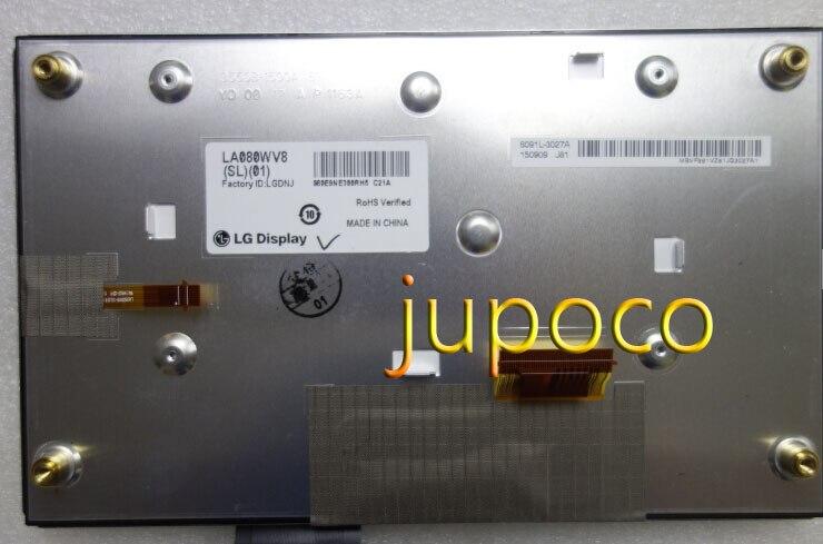 Оригинальный Новый L.G 8 дюймов ЖК дисплей с сенсорным экраном LA080WV8 (SL) (01) LA080WV SL01 сенсорный дигитайзер для автомобиль Hyundai ЖК мониторы
