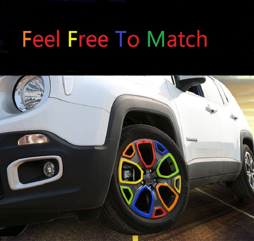 MOPAI ABS 1.4 Car Exterior Wheel Hub Tire Decoration Cover Trim Stickers For Jeep Renegade 2015 Up Car Styling цена и фото