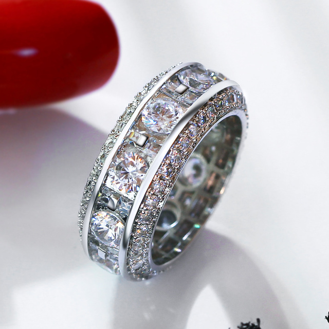2017 New Luxury Wedding Ring For Women Gold Color Band Made With AAA Cubic