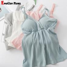 Одежда для беременных кормящих топ без рукавов майка грудного вскармливания Одежда для беременных женщин Беспроводной майки майка для кормления жилет