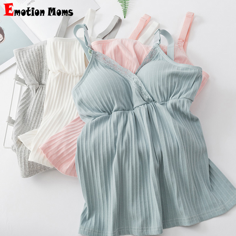 Maternity Clothes Nursing Top Sleeveless Camisole Breastfeeding Clothes Pregnant Women Wireless Camis Tank Top Lactation Vest
