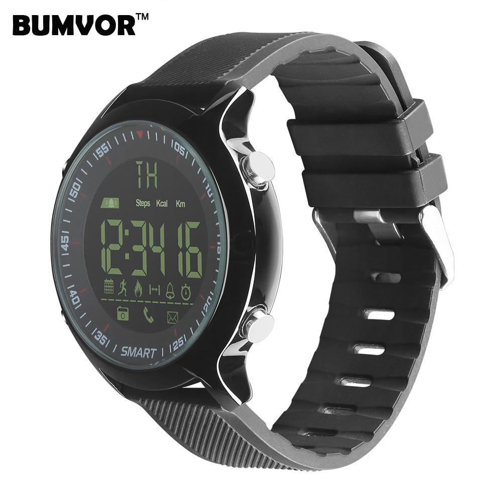 BINZI Smart Watch EX18 Waterproof 5ATM IP68 Pedometer Calorie Reminder Sport Men Wristband Smartwacth For Android iOS