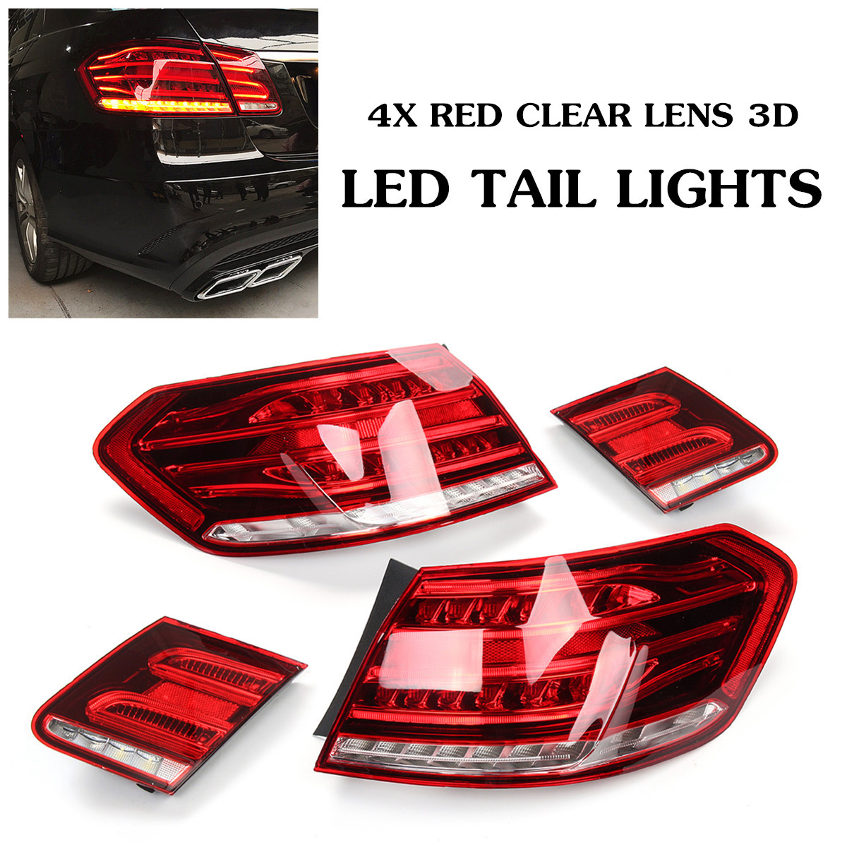 For 13-15 Benz-E Class W212 E200 E240 E260 E280 E300 Rear Signal LED Tail Lights ABS 49x19cm Direct Replacement Light Assembly dxz 2pcs car led door logo projector ghost shadow light for mercedes benz w212 w166 w176 e200 e300 e260 e class amg
