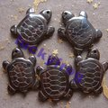 wholesale 20pcs cute regular black Hematite turtle pendant Beads Free Shipping