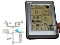 프로 무선 날씨 역 w/PC 인터페이스, 터치 패널/w 태양 센서