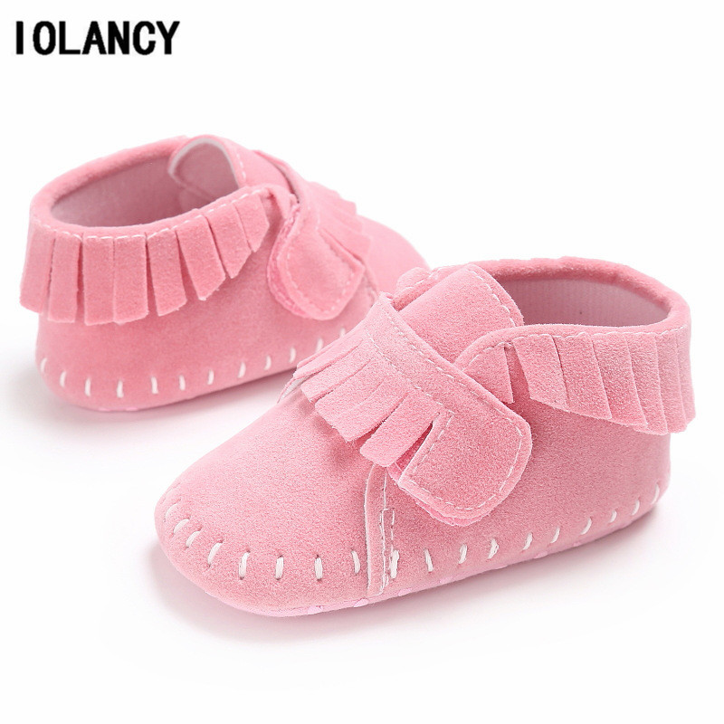 PU Leather Tassels Baby Moccasins Girls Boys Newborn Anti-slip Infant Shoes Toddler First Walker Soft Soled BS072