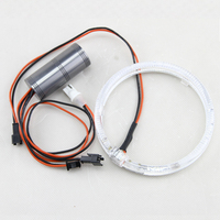 2PCs Pair Brand New Guide Angel Eyes 105MM Full Circle Halo Ring Kit Universal Fit Car