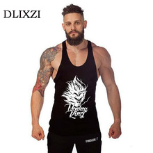 summer new bodybuilding clothes men's sleeveless t shirt dragon ball goku fashion 3d printing male gyms tank top muscle shirt
