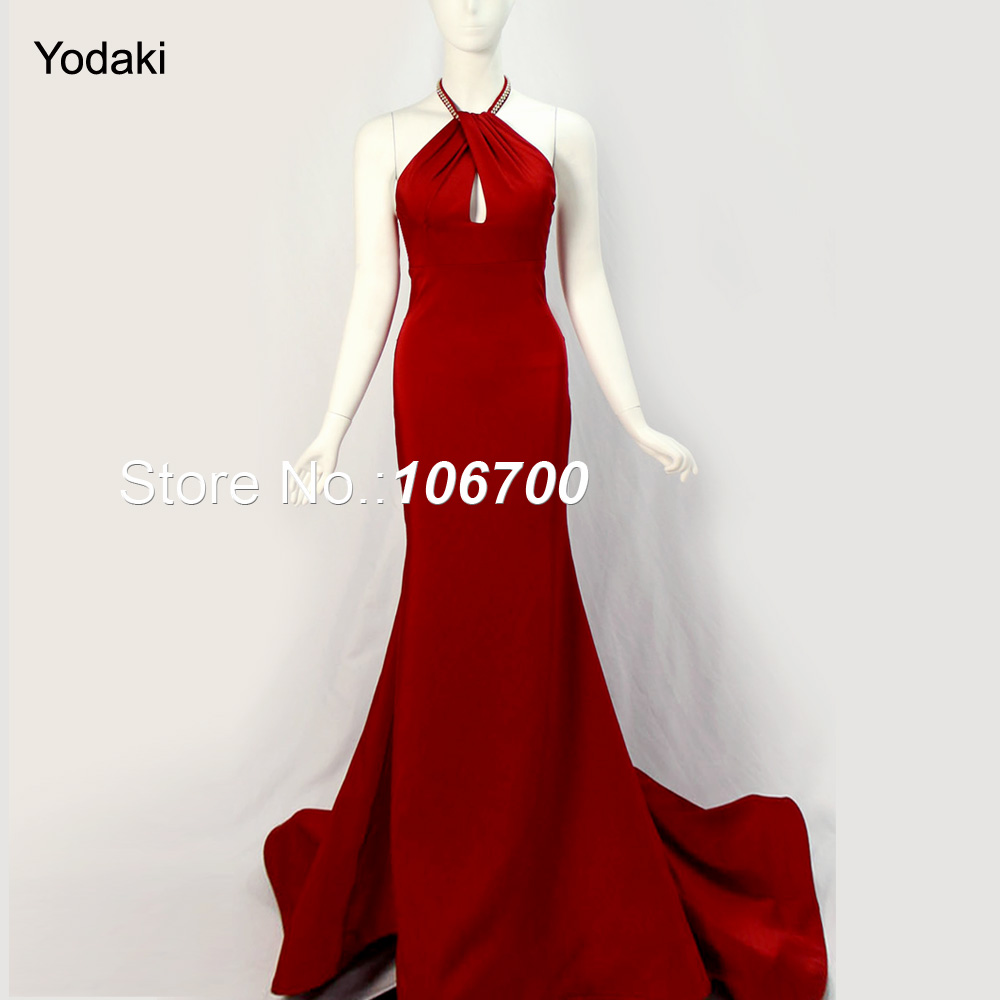 Online Get Cheap High Neck Red Lace Backless Prom Dress ...