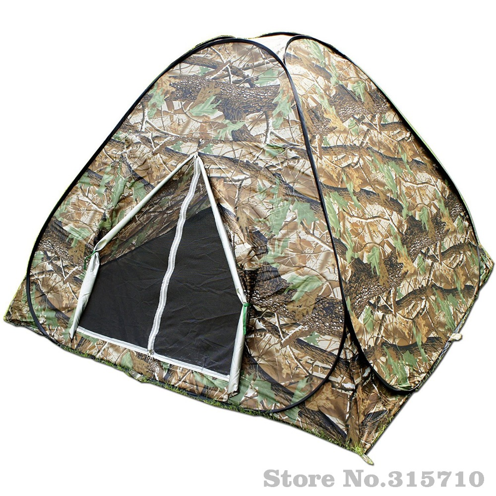 Camouflage Camping Hiking Easy Setup Instant Pop up Tent Portable carry silver coated anti-UV outdoor travel family tent