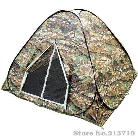 camuflagem acampamento caminhadas configuracao facil pop up tenda instantanea portatil carry revestido de prata anti