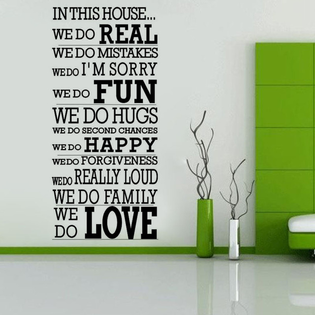 We Do Love In This House Wall Sticker Letters Wall Mural ...