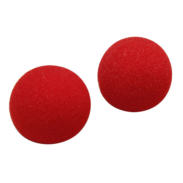 2Pcs Magic Street Trick Close Up Soft Sponge Ball Props Clown Nose Kids Childern Funny Toys Novelty Gags Practical Jokes