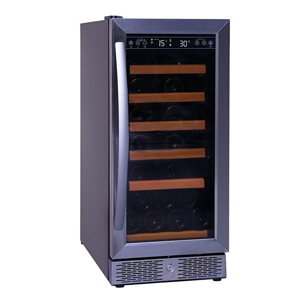 smad 32 cu ft compressor builtin wine fridge 28 bottle single temperature stainless - Built In Wine Fridge