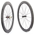 700c Carbon Wheelset 50mm U shape Wheels For Bicycle 25mm Tubular Roue Carbone Pour Velo Route Carbon Bicycle Wheel Basalt Brake