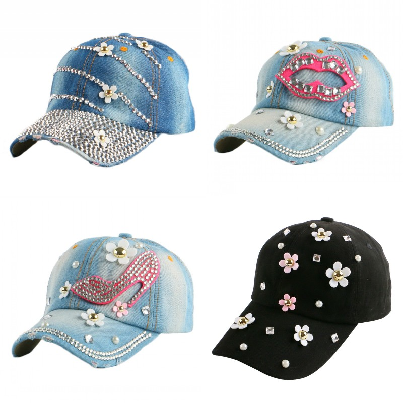 new trendy fitted women girl beauty hat cute daisy shaped outdoor casual jean baseball cap female hip hop gorras snapback hats