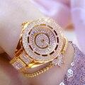 Horloge Dames женские часы Лидирующий бренд 2019 горячая распродажа Роскошные часы с кристаллами Модные женские кварцевые часы женские наручные ча...