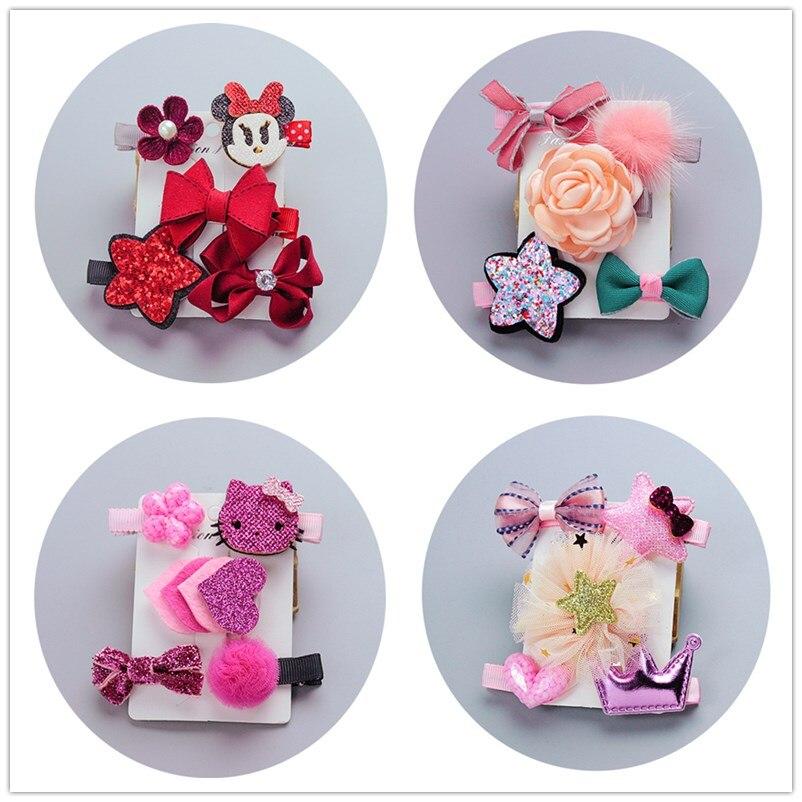5 Pcs hair clips accessories bows for Children kawaii tiara headdress girls hairpins hair barrette ornaments   headwear   hairgrips