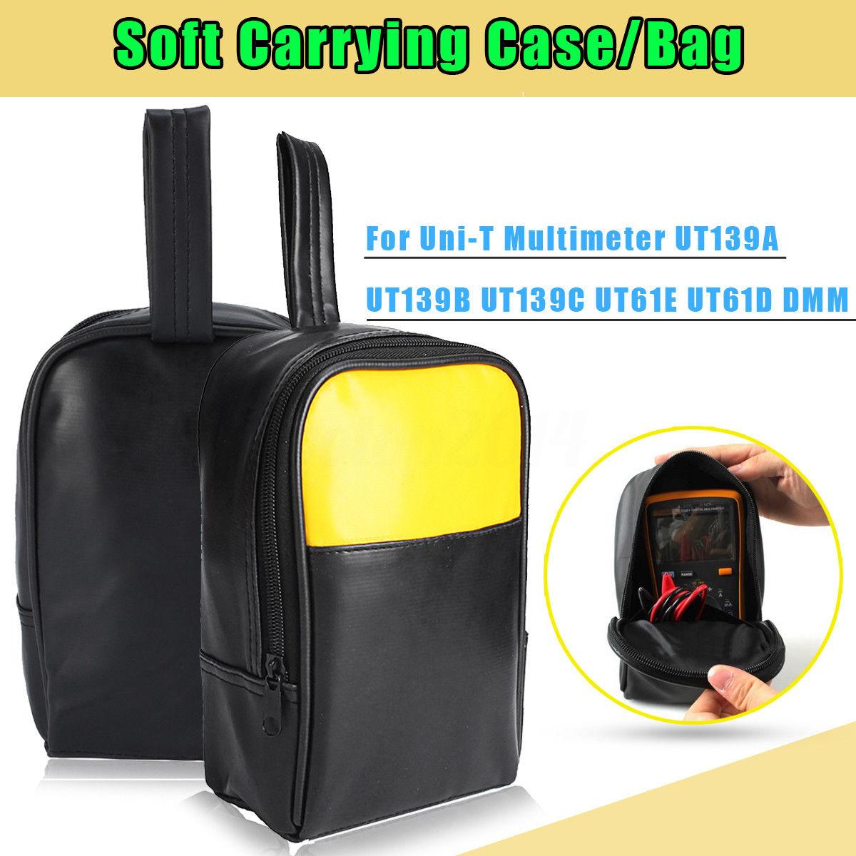 Doersupp Soft Carrying Bag For Uni-T Multimeter UT139A UT139B UT139C UT61E UT61D DMM PU Leather Waterproof