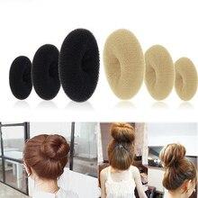 Hot Women Magic Blonde Donut Hair Ring Bun Former Shaper Hair Styler Maker Tool Hair Accessories 7FIX