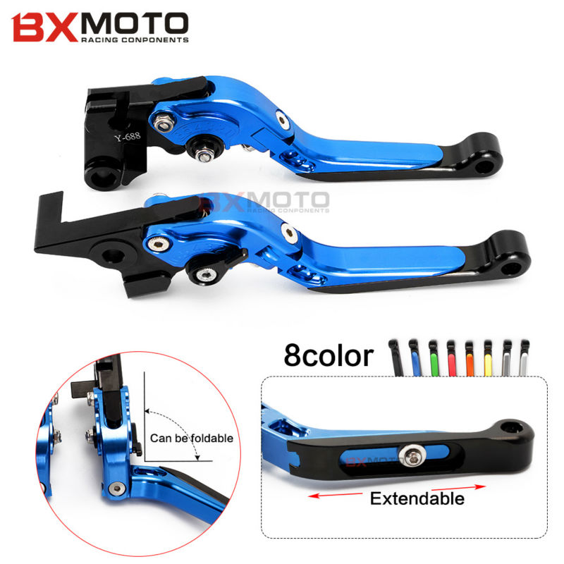 Motorcycle CNC Blue brake clutch lever set For Yamaha FZ6 FAZER FZ6R FZ8/ XJ6 DIVERSION FZ1 FAZER MT-07/FZ-7 MT-09/SR/FZ9 universal 6mm motorcycle fairing screw kit set screws for yamaha tdm 850 fz1 fazer fz6 fz6r fz8 xj6 diversion xjr1300 fz16