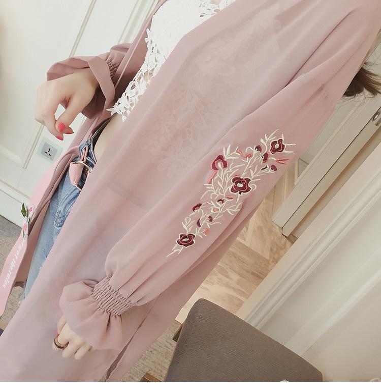 HTB10CffQFXXXXa5XpXXq6xXFXXXu - Summer Kimono Cardigan Women 2017 Floral Embroidery Chiffon Blouse